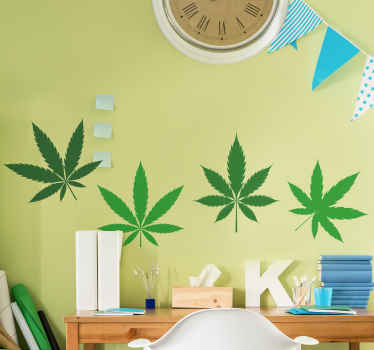 Beautiful Cannabis plant wall decal to decorate a wall space giving it a new and lovely look. The product is easy to apply and removable.