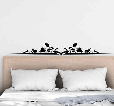 Simple ornamental holly leave decorative bedroom headboard decal for your home. The colour is customizable and it is really easy to apply.