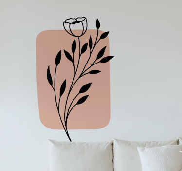 Improve your space with a touch of modernity and in simple style in our original decorative leaf plant wall art sticker.