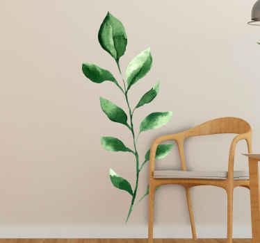 Vinilo de planta con rama de olivo para que decores cualquier superficie plana que desees. Diseño original en el que puedes elegir las medidas