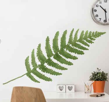 Semplice ma adorabile adesivo da parete con foglie di felce per la decorazione della casa, dell'ufficio e in altri luoghi. è durevole.