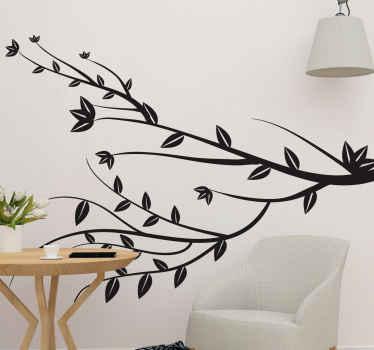 Decalcomania ramo di un albero semplice, carina ed elegante con cui puoi decorare qualsiasi spazio in una casa. è di facile applicazione.
