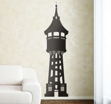 Water Tower Sabadell Travel Sticker
