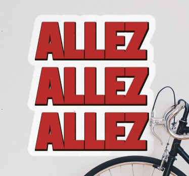 Allez Liverpool country sticker manufactured with high quality vinyl. It is really easy to stick on a  flat surface and removable.
