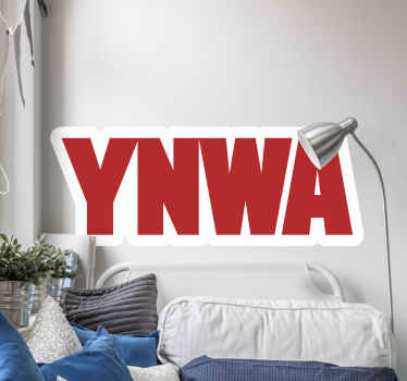 YNWA Liverpool text sticker that translates 'You will never walk alone' It is Liverpool symbolic song. Available in ay customizable size needed.