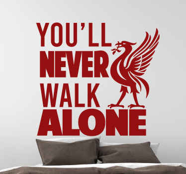 You'll never walk alone Liverpool bird sticker to decorate you space as a fan, player or supporter of this great club. It is easy to apply and remove.