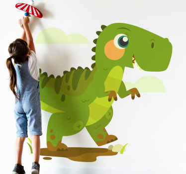 Give your children a gift today that will not only make them smile, but that will upgrade the walls with this wallstickers dinosaur design! Buy now!