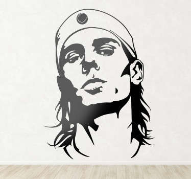 Sticker portrait Rafa Nadal
