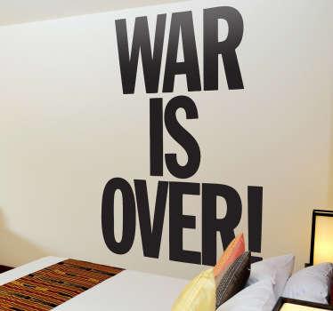 War is Over Wall Sticker
