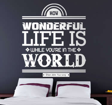 Your Song Wall Sticker