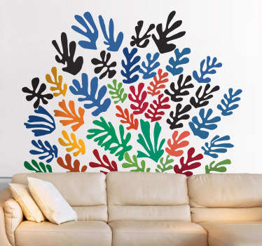 Wall Stickers - Decals - Inspired design. Abstract expressionism style illustration by French artist Henri Matisse. Wall art.