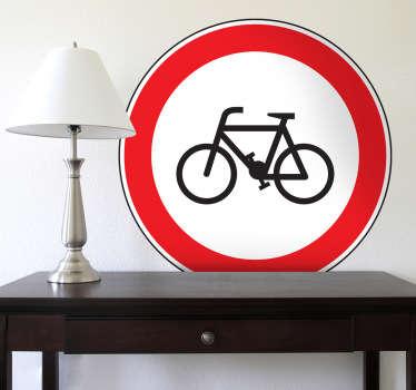 Sticker verboden fietsers