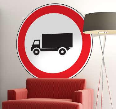 Muursticker verbod voor vrachtwagens