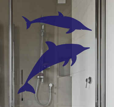 You can match the colour of this swimming dolphin shower decal to your space by select the perfect colour suitable. Original, waterproof and durable.