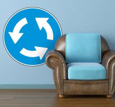 Sticker decorativo avviso rotonda
