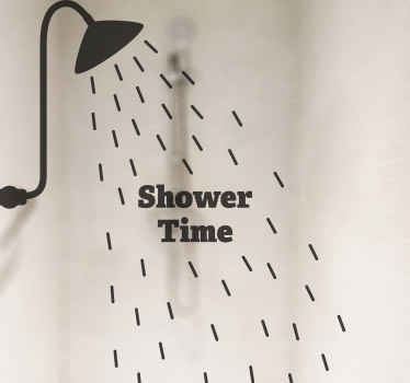Decorate your shower door space with this illustrative shower screen decal. I is made with quality vinyl, adhesive , waterproof and durable.
