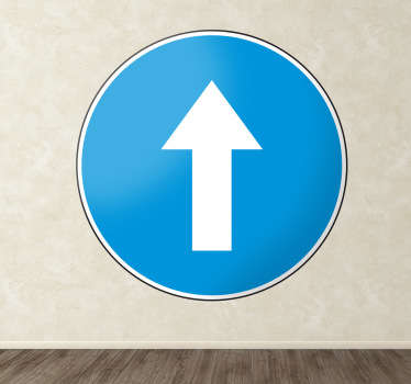 Sticker decorativo direzione obbligatoria
