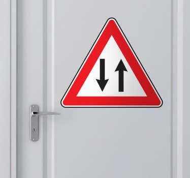 양방향 교통 표지 스티커