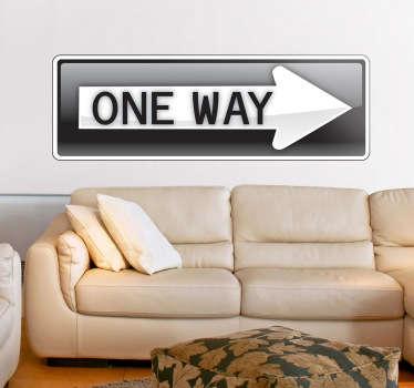 One Way Decorative Sticker