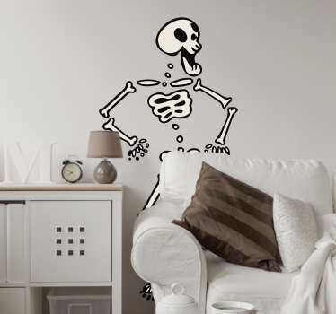 Sticker dansend skelet