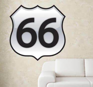 Sticker decorativo Route 66