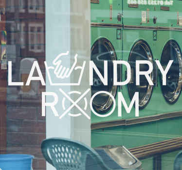 Indicate your laundry room space at home or shop with our decorative laundry room vinyl decal. Easy to apply and removable.