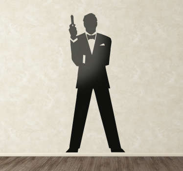 Sticker silhouette James Bond