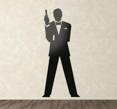 Autocolante silhueta agente 007