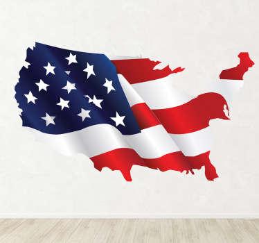 Autocolante decorativo bandeira Estados Unidos