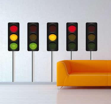 Set stickers decorativi semaforo