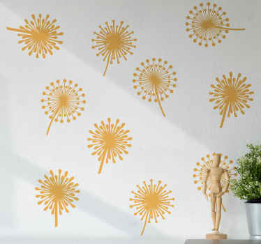 Simple but amazing different prints of dandelion flower vinyl decal that can be pasted on a surface to change the look of a space.