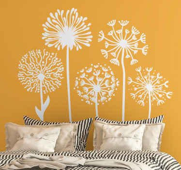 Create a natural and fresh looking atmosphere on your space with this Dandelion flower vinyl wall sticker. Comes in custom colors.