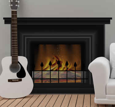 Beautiful looking fireplace object wall art decal that you would love to decorate a space with in a house or on other spaces of interest.