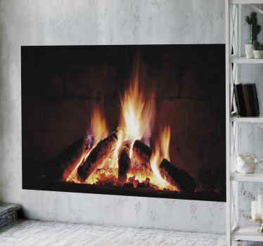 Decorate your home or office with this realistic burning fireplace object decal. Available in various sizes, easy to apply and durable.