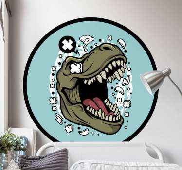If your kid love dinosaur, then you should decorate his or her space with this T-rex logo dinosaur wall sticker. It is made from quality vinyl.