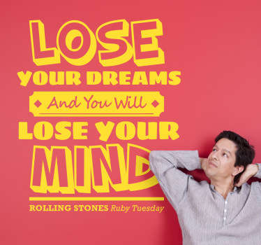 Ruby Tuesday Lyrics Sticker