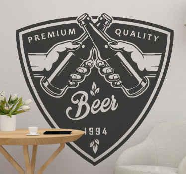 私たちの装飾的な品質のプレミアムビールドリンクステッカーであなたのスペースにプレミアム品質のビールを宣伝してください。キッチン、バー、ダイニング、レストランに適しています