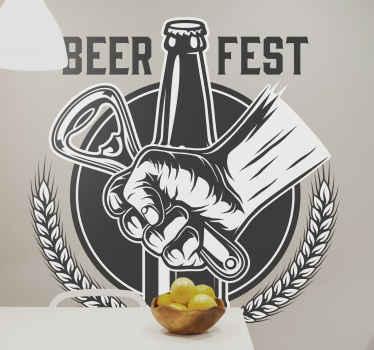 お好みのビールスペースを飾るためのビールフェストドリンクビニールステッカー。キッチン、ダイニング、ビール、さらにはレストランスペースにも飾ることができます。