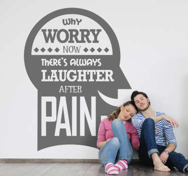 Vinil decorativo why worry