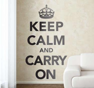 Behåll lugn vägg klistermärke