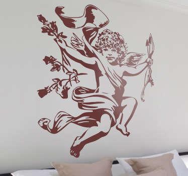 Monochrome Cupid Decorative Decal