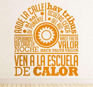 Adhesivo con un diseño original de tenvinilo inspirado en una canción del grupo de pop español Radio Futura.