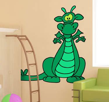 Vinilo infantil dragón color verde