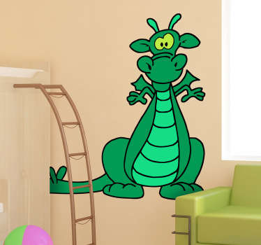 Sticker Groene draak kinderen