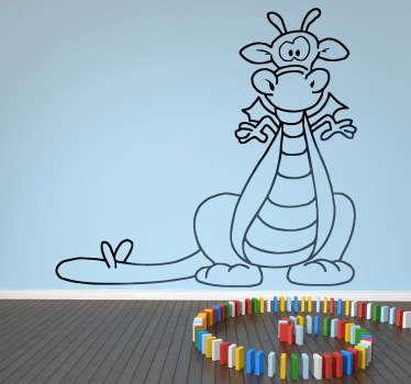 Vinilo infantil dragón divertido