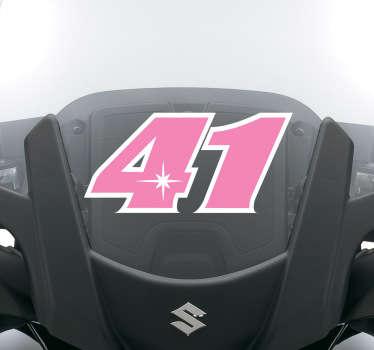 Nakleja na motocykl z numerem 41