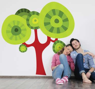 Vinilo decorativo árbol círculos