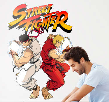 Vinilo infantil cartel street fighter