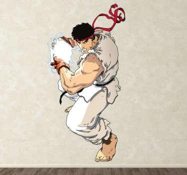 Dieses Wandtattoo ist die ideale Wandgestaltung für alle Street Fighter Fans!