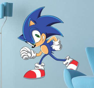 Een sticker van de cartoon van het beroemde personage uit de Saga video games, Sonic! Verkrijgbaar in verschillende maten. 10% korting bij inschrijving.